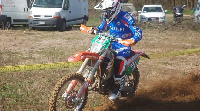 A Febbio Jordi Gardiol del Moto Club Alfieri 2° nel campionato Italiano Under 23 di Enduro