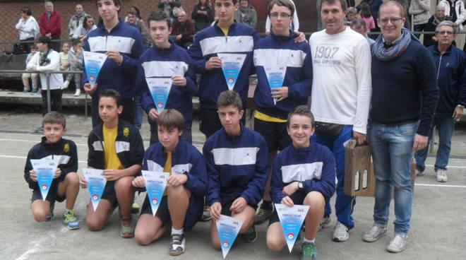 Assegnati i titoli italiani di tamburello a muro giovanile, il Chiusano campione Under 14