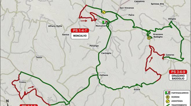 Svelato il percorso della seconda edizione del ''Rally Colli del Grignolino''