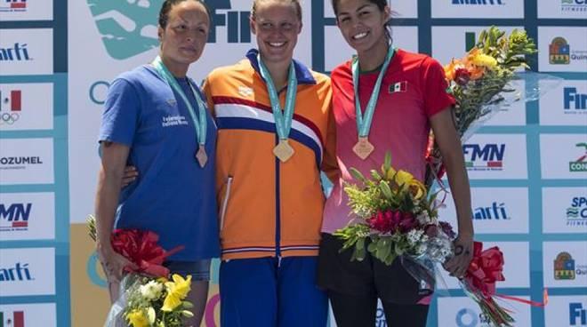 Alice Franco sale sul secondo gradino del podio al Grand Prix Fina in Messico