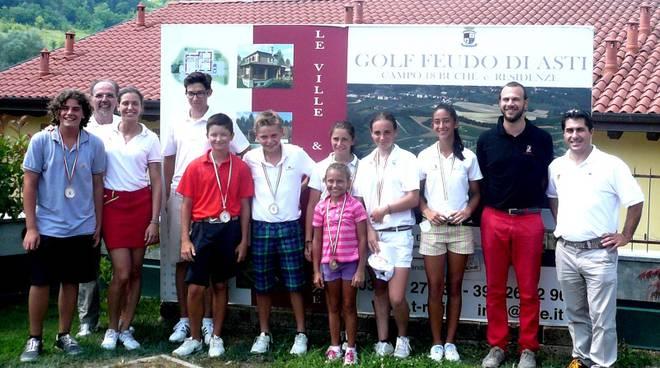 Il Golf Feudo di Asti teatro della gara giovanile