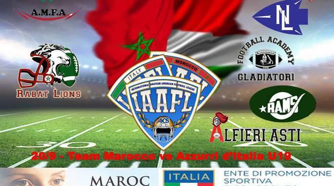 La Nazionale del Marocco di Football americano IAAFL giovedì ad Asti ospite degli Alfieri