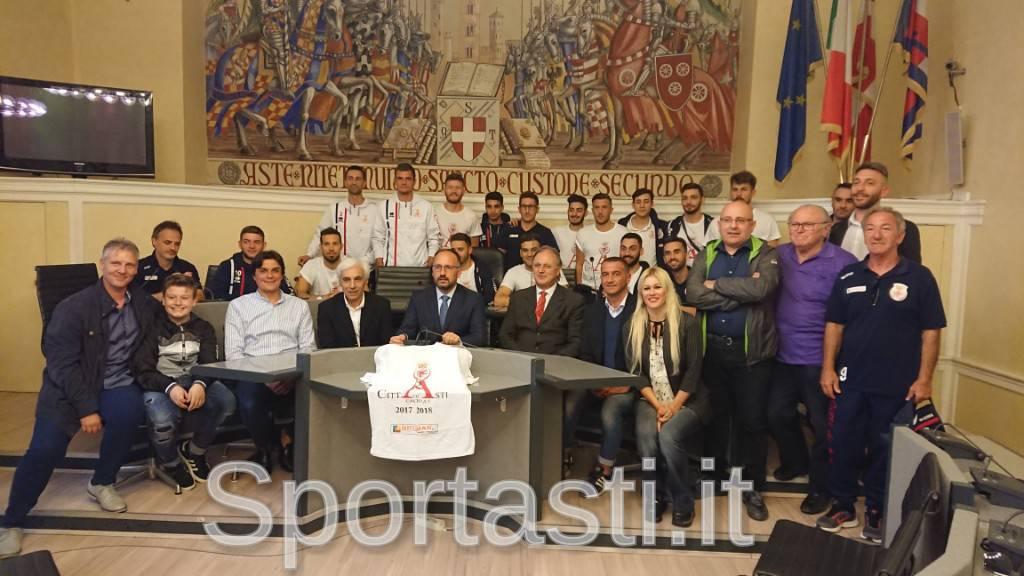 Città di Asti calcio a 5 festeggiata in Comune