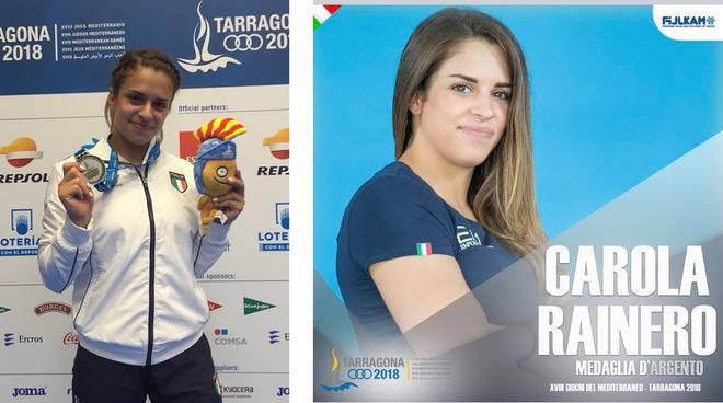 carola rainero argento giochi mediterraneo 2018