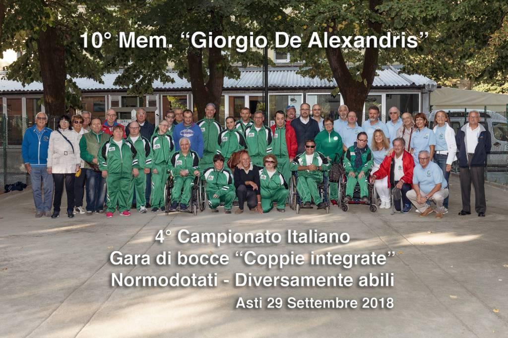 "10° Mem. ""Giorgio De Alexandris"" - Gara di Bocce a Coppie Integrate"
