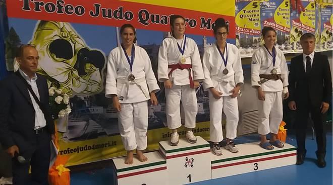 podio annalisa cavagna judo olimpic trofeo 4 mori 2018