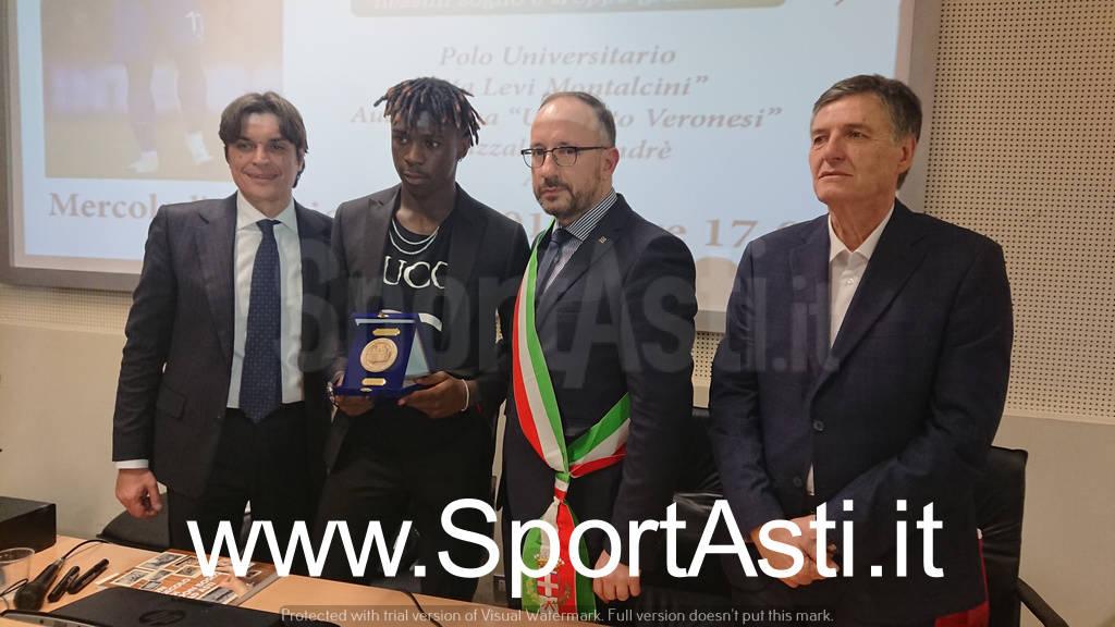 Moise Kean ad Asti testimonial Sport per Tutti