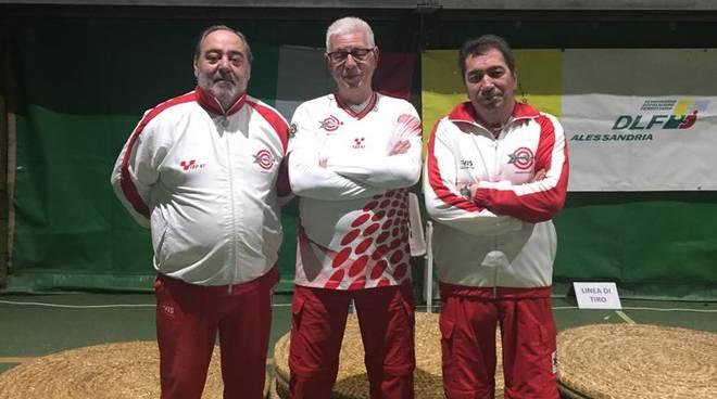 astarco squadra senior Stefano Vassarotti, Andrea Pescatori e Maurizio Biolcati