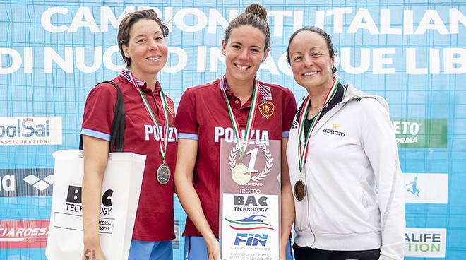 podio 25 km fondo italiani 2019 alice franco terza