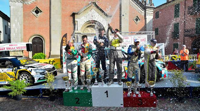 podio rally valli vesimesi 2018
