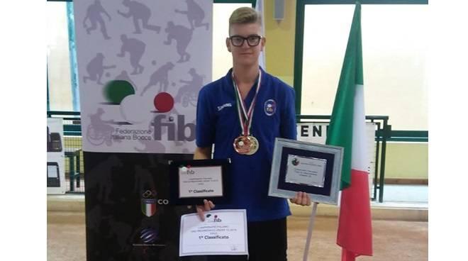 matteo vercelli campione italiano bocce volo under 15 2019