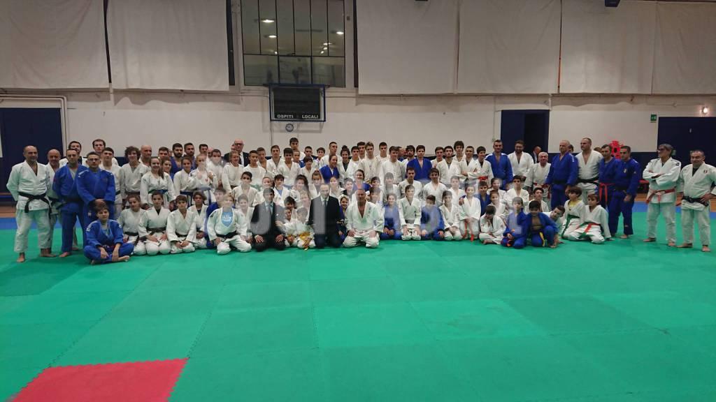 Allenamento Regionale Judo con consegna cintura nera Alberto Cirio