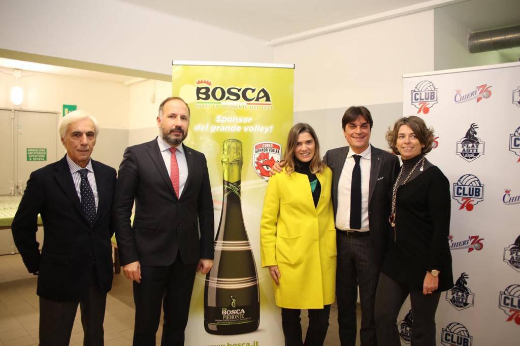 Inaugurazione palabosca allenamento congiunto Cuneo Chieri