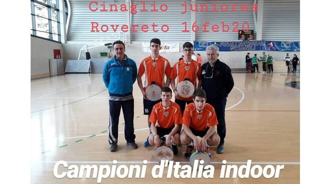 cinaglio juniors titolo italiano indoor 2020