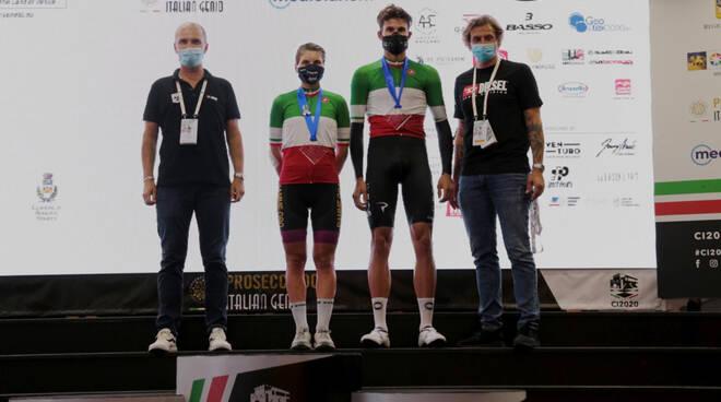 vincitori  cronometro 2020 campionati italiani filippo ganna e elisa longo borghini