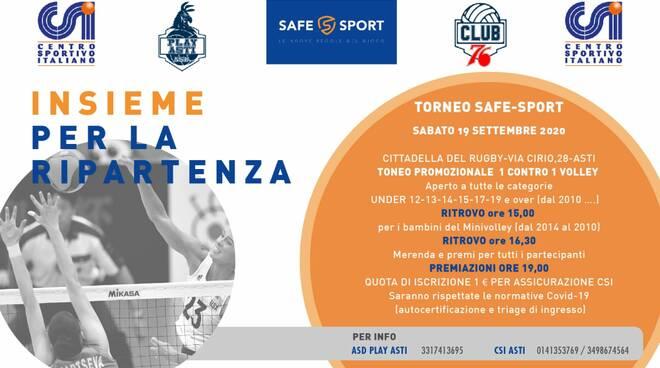 locandina Torneo Safe-Sport 1vs1 di pallavolo