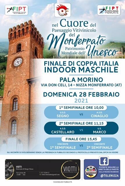 coppa italia indoor di tamburello maschile 2021