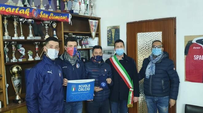 Sparta San Damiano d'Asti premiato scuola calcio riconosciuta