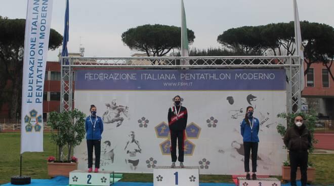 alice sotero podio campionati italiani pentathlon 2021 foto sito fipm