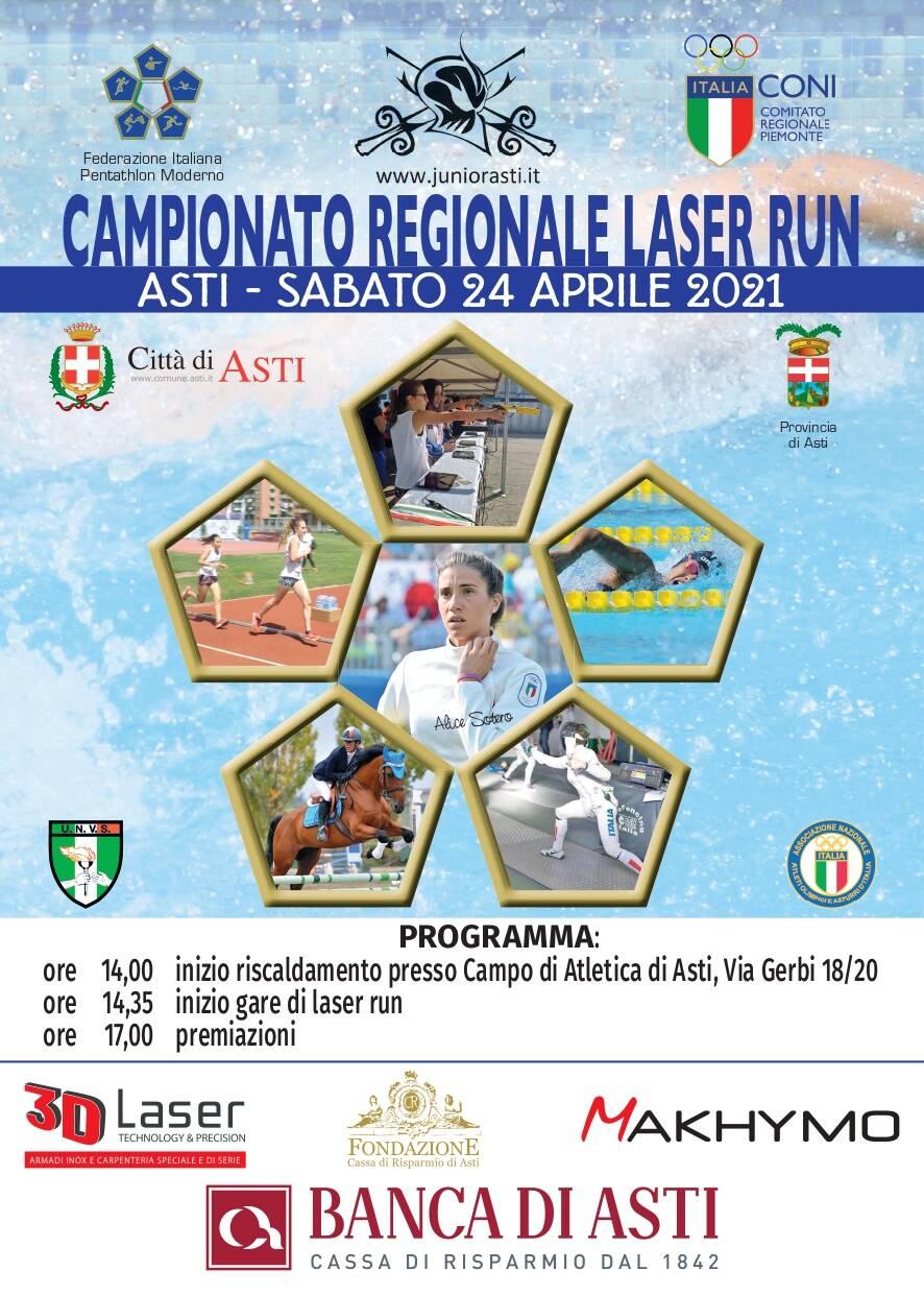 locandina campionato regionale laser run 2021
