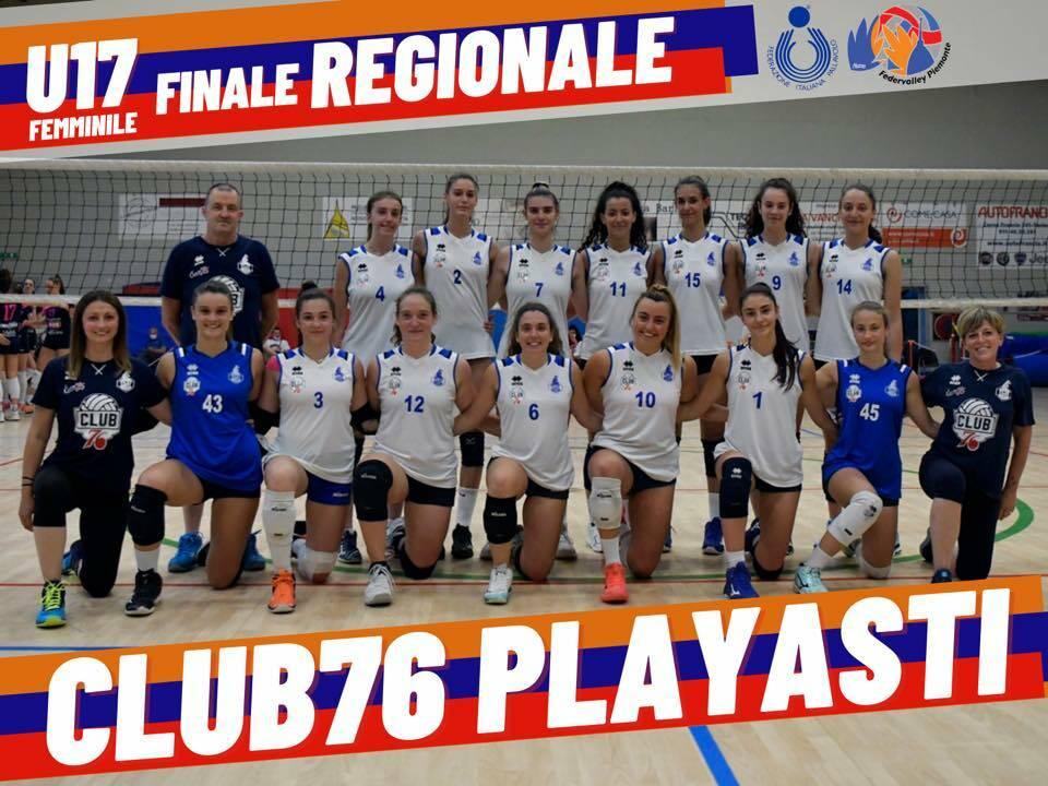 Club76 PlayAsti Brumar Fenera campione regionale under 17