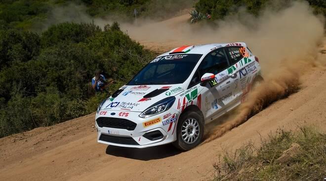 foto credit Magnano Marcel Porliod e Andre Perrin sulla Ford Fiesta (Rally Italia - Sardegna 2021)