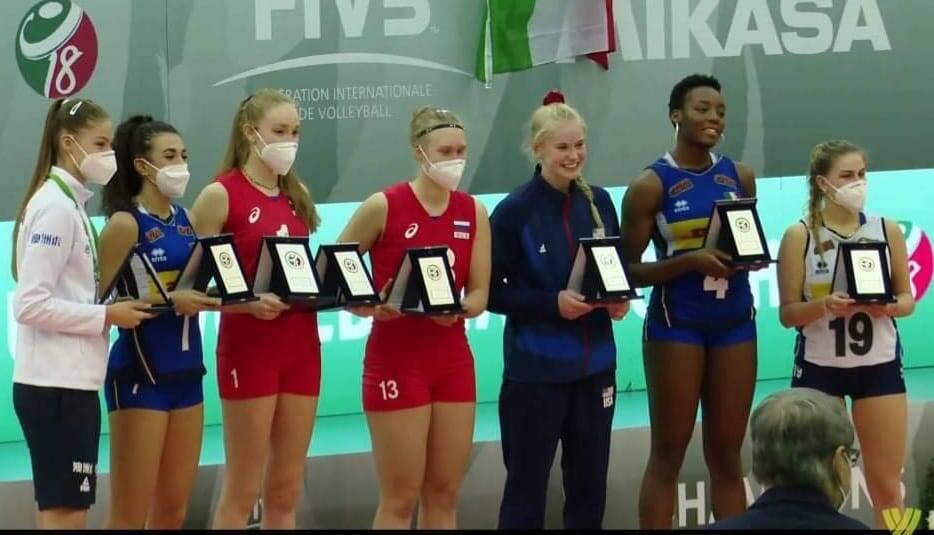 Emma Barbero Miglior libero mondiale under 18