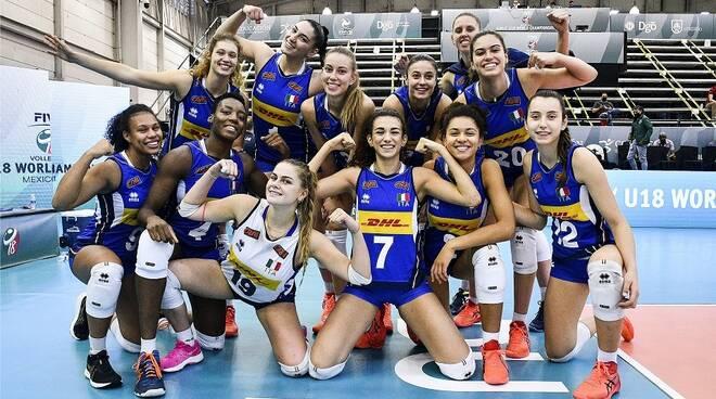 italia under 18 mondiali 2021 post canada foto federvolley