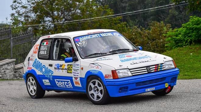 (Foto Magnano) Massimo Piana e Luigino Colla (Peugeot 205)