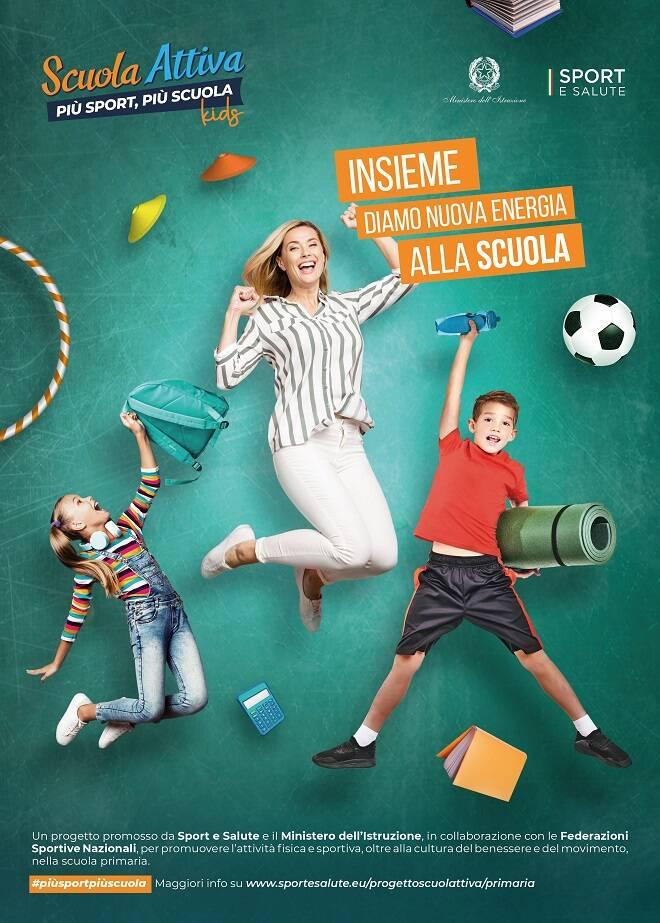 locandina scuola attiva kids sport e salute